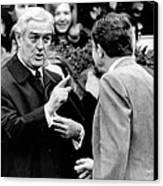 President Richard Nixon Listens To An Canvas Print by Everett