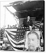 President Taft Giving A Speech In Augusta - Georgia C 1910 Canvas Print