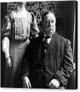 President William Howard Taft With Daughter Canvas Print by International  Images