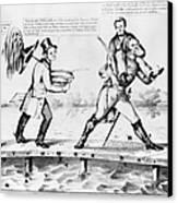 Presidential Campaign, 1852 Canvas Print
