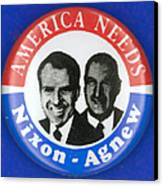 Presidential Campaign:1972 Canvas Print by Granger
