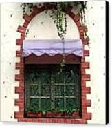 Pretty Decorated Window Canvas Print