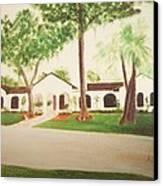 Prince Faisal's Home In Fl Canvas Print by Alanna Hug-McAnnally