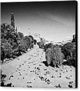 Princes Street Gardens On A Hot Summers Day In Edinburgh Scotland Uk United Kingdom Canvas Print