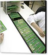 Printed Circuit Board Assembly Work Canvas Print
