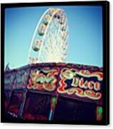 Prom Fairground Rides Canvas Print by Chris Jones