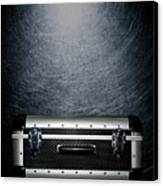 Protective Luggage Case On Stainless Steel. Canvas Print