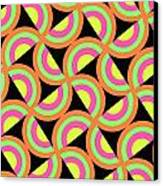 Psychedelic Squares Canvas Print by Louisa Knight