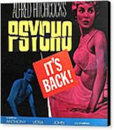 Psycho, Top Left Anthony Perkins Top Canvas Print