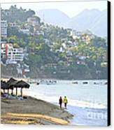 Puerto Vallarta Beach Canvas Print