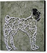 Pug Canvas Print by Charlene White