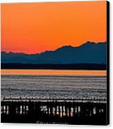 Puget Sound Sunset Canvas Print by Sarai Rachel