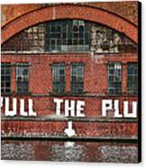 Pull The Plug Canvas Print by Aurica Voss