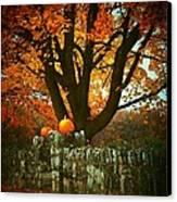Pumpkins On The Wall Canvas Print by Joyce Kimble Smith