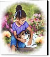 Puppy Love Canvas Print by Dawn Serkin