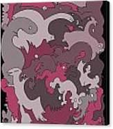Purple Creatures Canvas Print