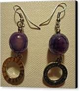 Purple Doodle Drop Earrings Canvas Print