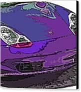 Purple Porsche Nose 2 Canvas Print by Samuel Sheats
