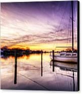Purple Sunrise Canvas Print by Vicki Jauron