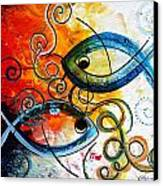 Purposeful Ichthus By Two Canvas Print by J Vincent Scarpace
