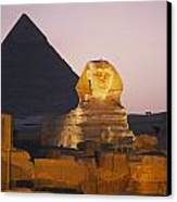 Pyramids Of Giza With The Great Sphinx Canvas Print by Richard Nowitz