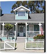 Quaint House Architecture - Benicia California - 5d18817 Canvas Print by Wingsdomain Art and Photography