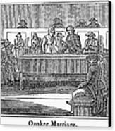 Quaker Marriage, 1842 Canvas Print