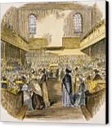 Quaker Meeting, 1843 Canvas Print