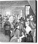 Quaker Meeting, 1888 Canvas Print by Granger