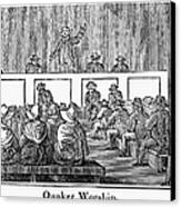 Quaker Worship, 1842 Canvas Print by Granger