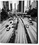 Queensway And Queens Road East In The Admiralty District Hong Kong Island Hksar China Canvas Print