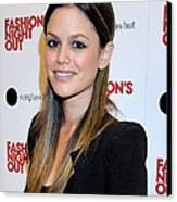 Rachel Bilson At A Public Appearance Canvas Print