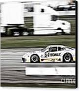 Racing By Canvas Print by Darcy Michaelchuk