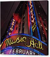 Radio City Music Hall Canvas Print by Benjamin Matthijs