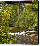 Railroad Bridge 7827 Canvas Print by Michael Peychich