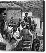Railroad: Dining Car, 1880 Canvas Print by Granger