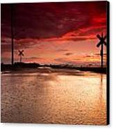 Railroad Sunset Canvas Print by Cale Best