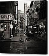 Rain - Pell Street - New York City Canvas Print by Vivienne Gucwa