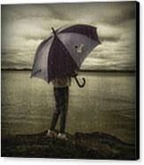 Rain Day 2 Canvas Print by Heather  Rivet