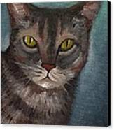 Rain The Cat Canvas Print by Kostas Koutsoukanidis