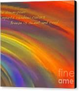 Rainbow Haiku Canvas Print