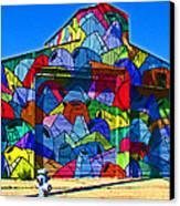 Rainbow Jug Building Canvas Print by Samuel Sheats