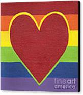 Rainbow Love Canvas Print by Kristi L Randall