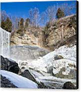 Rainbow Over The Webster's Fallslls Canvas Print by Luba Citrin