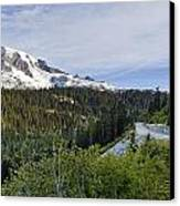 Rainier Journey Canvas Print by Mike Reid