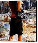 Rainy Day - Woman Of New York 04 Canvas Print by Emerico Imre Toth