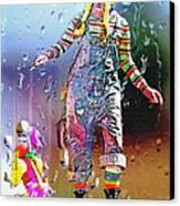 Rainy Day Clown 3 Canvas Print by Steve Ohlsen