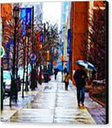 Rainy Day Feeling Canvas Print by Bill Cannon