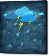 Rainy Day With Storm And Thunder Canvas Print by Setsiri Silapasuwanchai