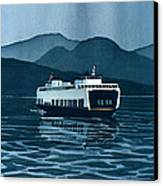 Rainy Ferry Canvas Print
